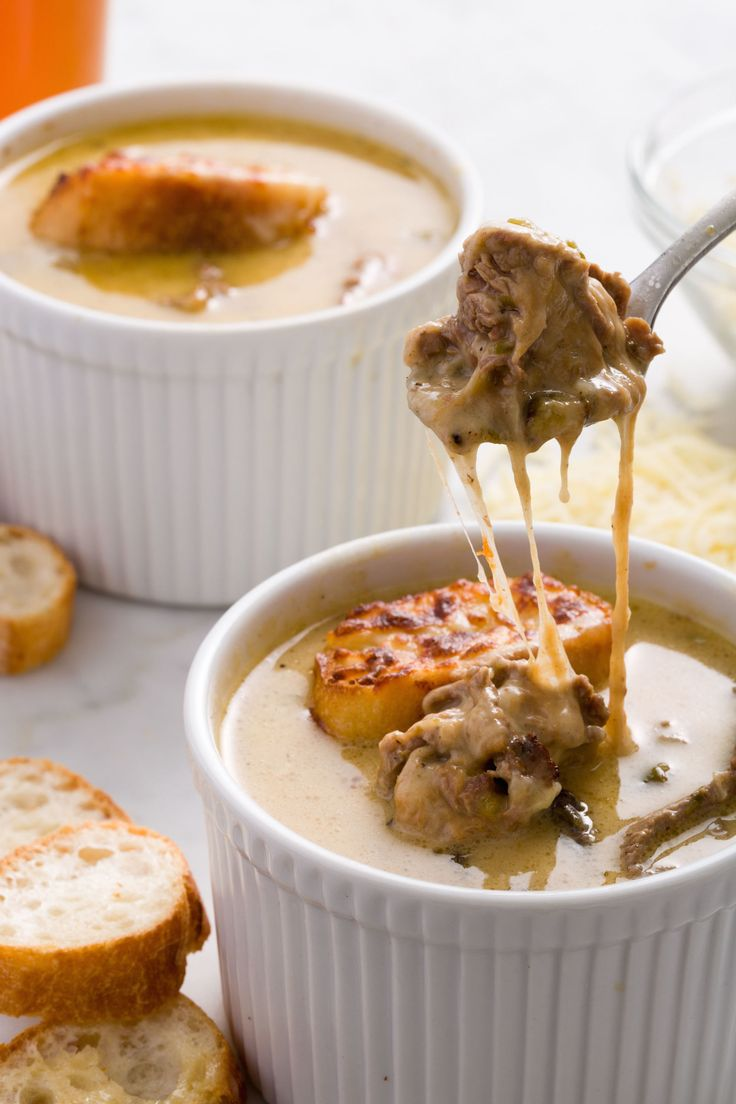 Philly Cheesesteak Soup  - Delish.com