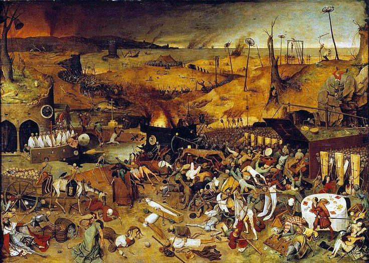 Der Triumph des Todes. Ein Gemälde des flämischen Malers Pieter Brughel des Älteren