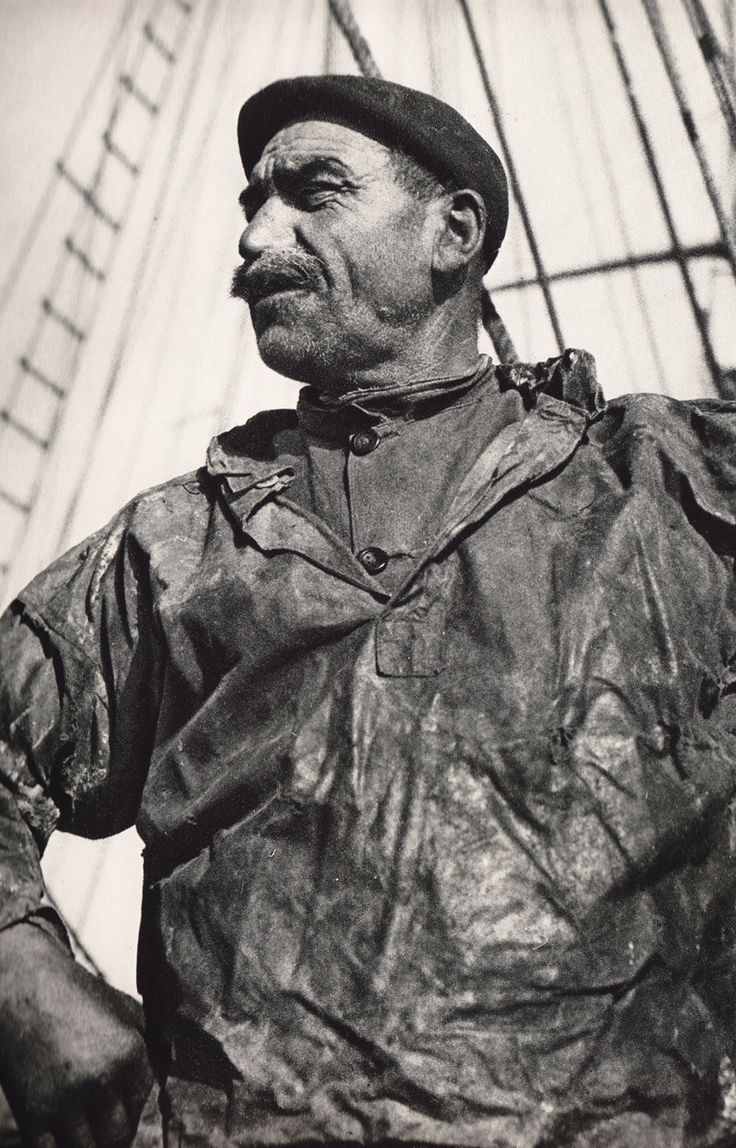 french sailor wearing an oilskin