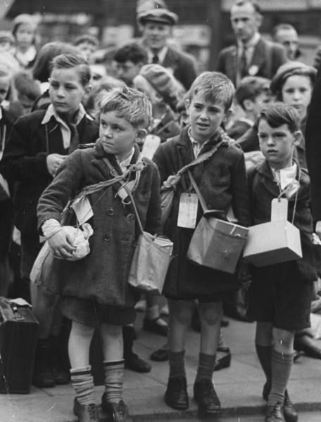 Children being evacuated from London - September 1939 - my Dad was one of the luckier ones he was evacuated from Southampton to stay with his grandparents in Somerset