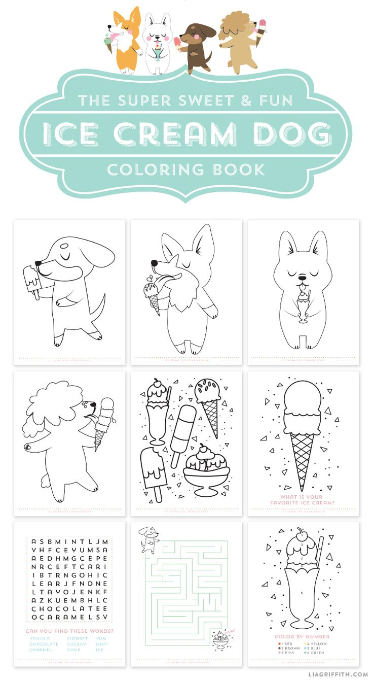 Free coloring pages ice cream sundae - Free Printable Ice Cream Dog Coloring Pages