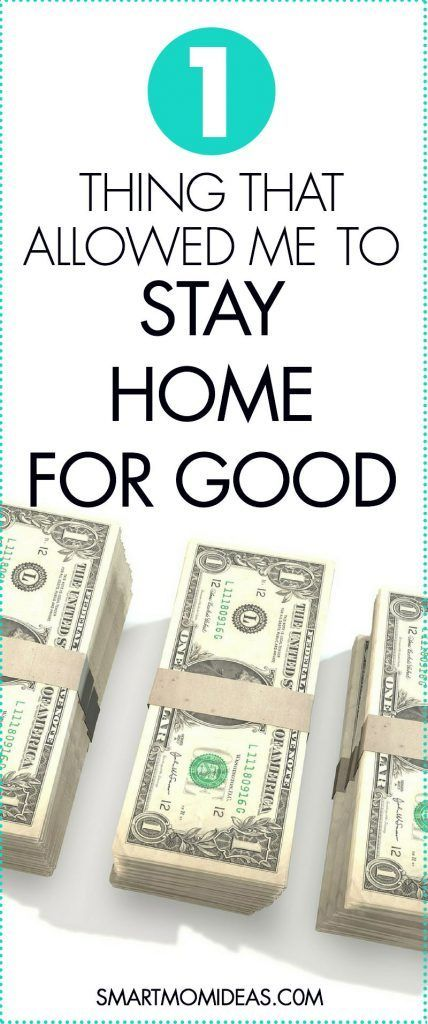 Smart Mom Ideas - Tips for the millennial mom I wanted to be a stay-at-home mom but didn't know how. How can you stay home and still contribute to the finances? Start a mom blog? Change your budget? Save money? Here is the #1 way I could stay at home for good.