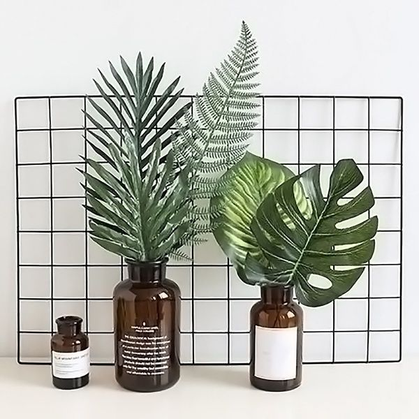 2Pcs Artificial Fake Leaf Eucalyptus Green Leaves Plant Nordic Home Decor CA