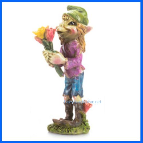 """Now available on our store:""""PURDY"""" Pixie Hol... Check it  out here! http://www.fairygardenfun.net/products/purdy-pixie-holding-a-flower-dc045?utm_campaign=social_autopilot&utm_source=pin&utm_medium=pin"""