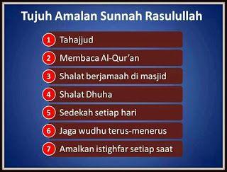 e - Turath: 7 Amalan Harian Rasulullah SAW