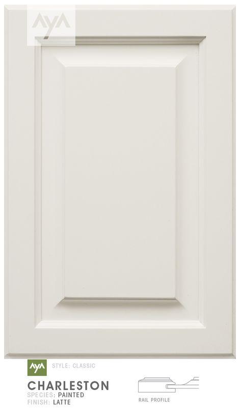 AyA Kitchens - Charleston Latte painted door.
