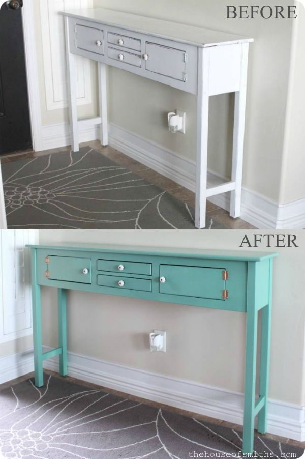 Table Redo for $12 - Holla! Awesome tips on How to Spray Paint Furniture!