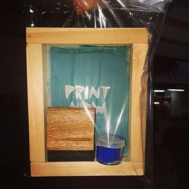 PRINT NOW! #serigrafia #miniatura #diseño