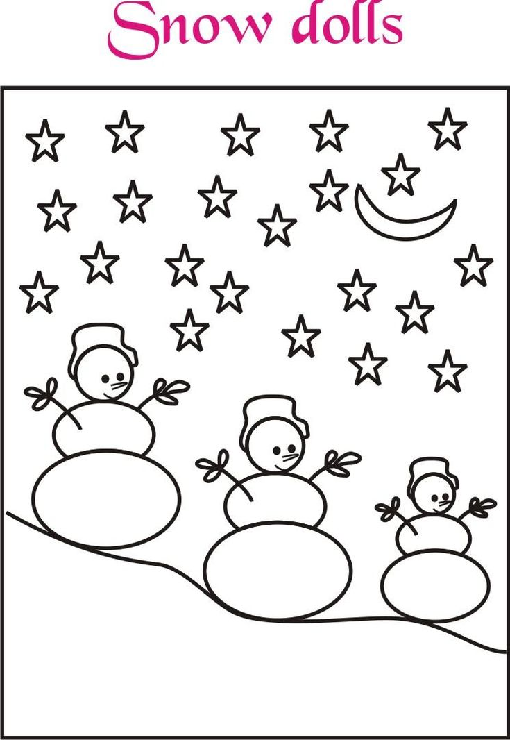 Snow dolls coloring printable page for kids love to