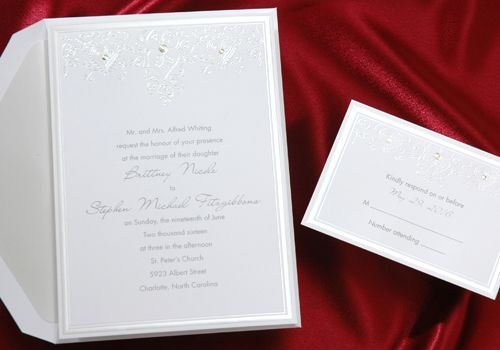 Heart Wedding Invitations by Calling Cards Unlimited