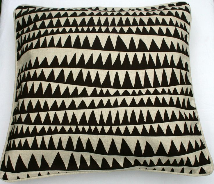 Our zig zag cushion cover. Slub Weave Fabric, piped cushion cover, plain backing, zip closure at $49.00