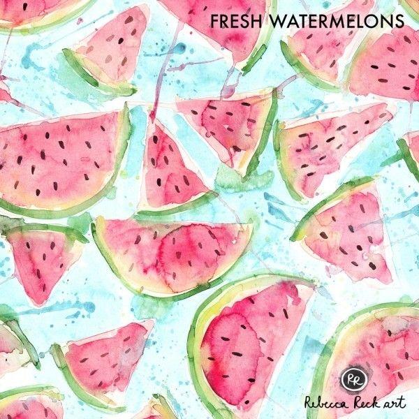 Jersey Knit Fabric - Fresh Watermelon - Rebecca Reck