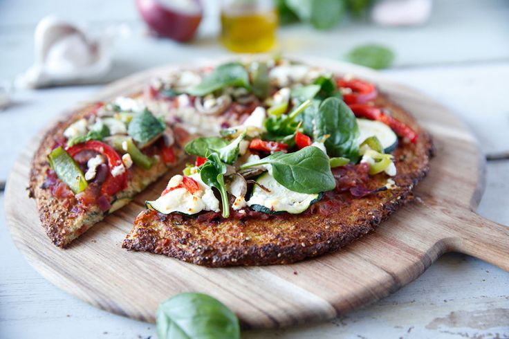 Cauliflower base pizza