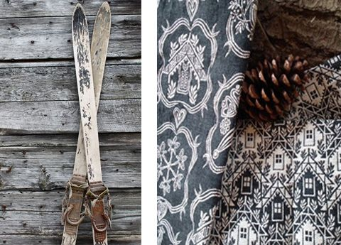 Textile furnishing for mountain houses