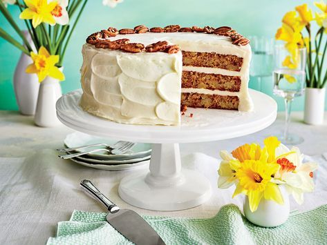 Hummingbird Cake Recipe | When the Hummingbird Cake was first submitted to Southern Living in 1978 by Mrs. L.H. Wiggins of Greensboro, North Carolina, we had no idea the cake would become our most popular and beloved Southern cake recipe ever. Without a doubt, the cake is a beauty with its three moist layers topped with cream cheese frosting and pecans; but it's the taste that really keeps us coming back. There are a few rules for success in this recipe that make it truly stand out.