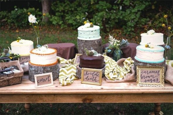 Rustic Vintage Backyard Wedding: Emily Hearn and  Michael Harrison Table: Little River Designs.  https://www.facebook.com/littleriverdesigns or littleriverdesigns.com