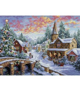 Dimensions Gold Collection Holiday Village Cntd X-Stitch Kit