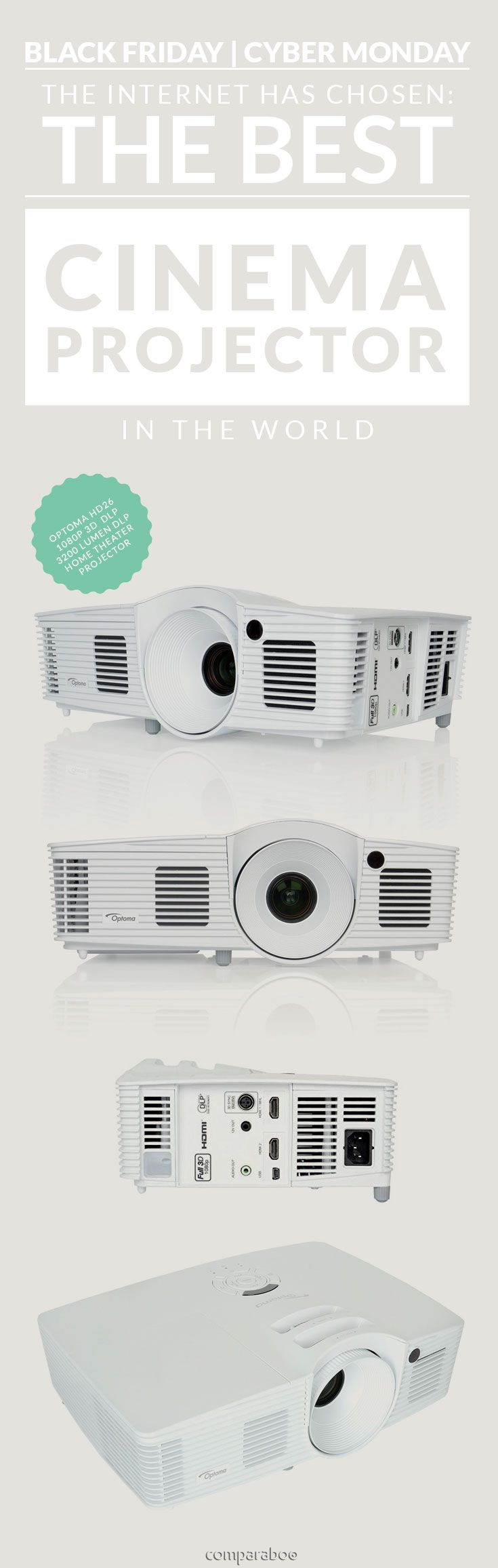 Create a home theater on your wall. Congratulations @optomaUK on the #1 brightest high contrast cinema projector in the world www.comparaboo.com | @comparaboo