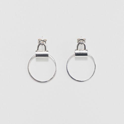 Jessie Harris Silver Tube Handle Earrings