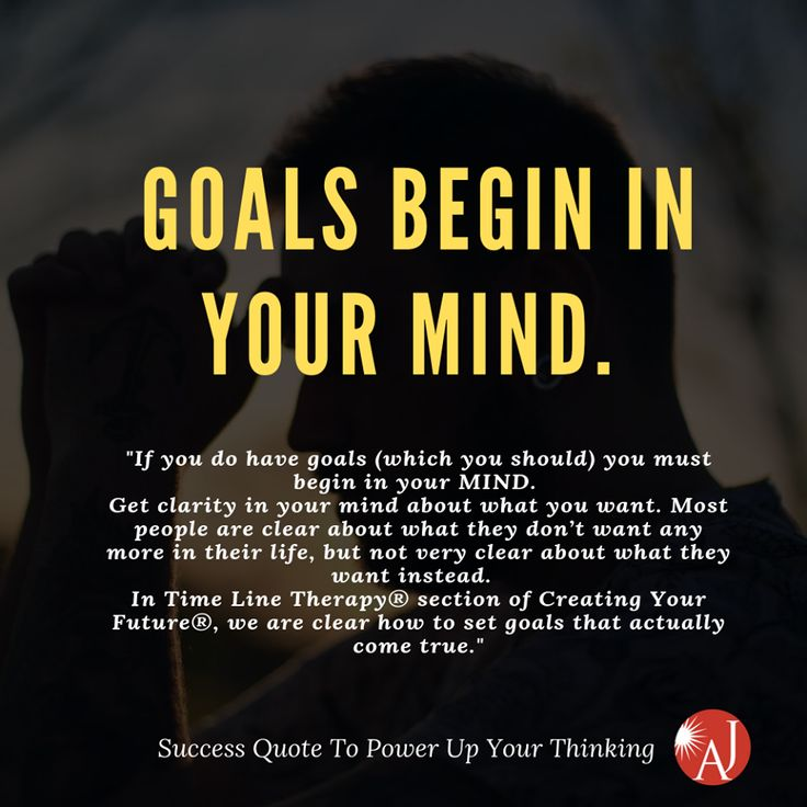 Goals begin in your mind. | Nlp, Positive learning, Nlp ...