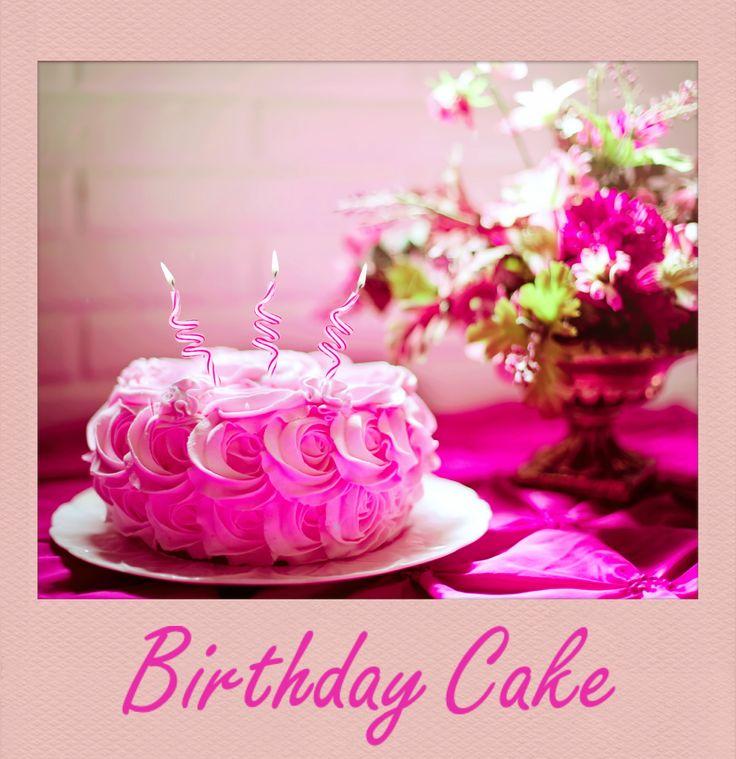 #Beautiful #Birthday #Cake. #PolaroidFx #Polaroid #Pink #Dessert #Food #Yummy #Strawberry #Flower #Roses