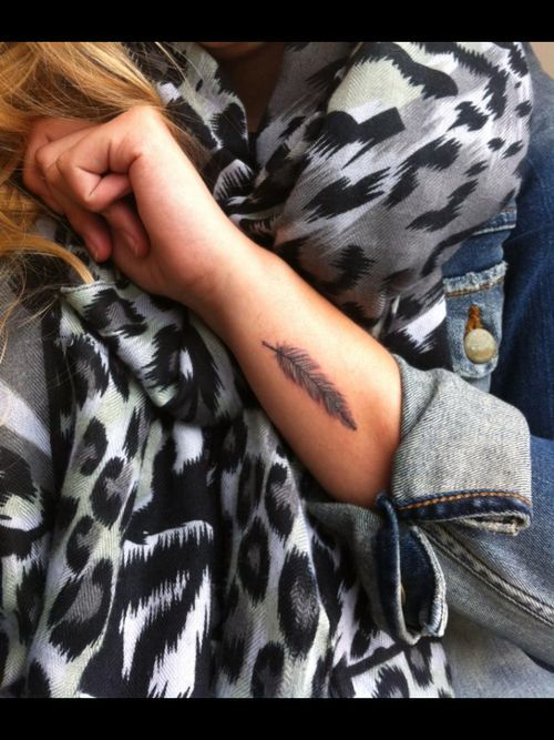 small feather tattoo #ink #YouQueen #girly #tattoos