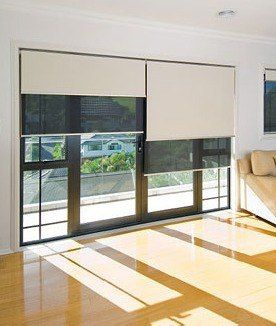 Sistema doble de cortinas Roller : Black out/Sun screen