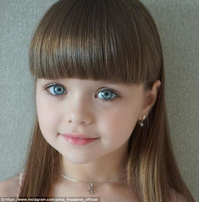 Anastasia Knyazeva, six, has been hailed the 'most beautiful girl in the world' on Instagr...
