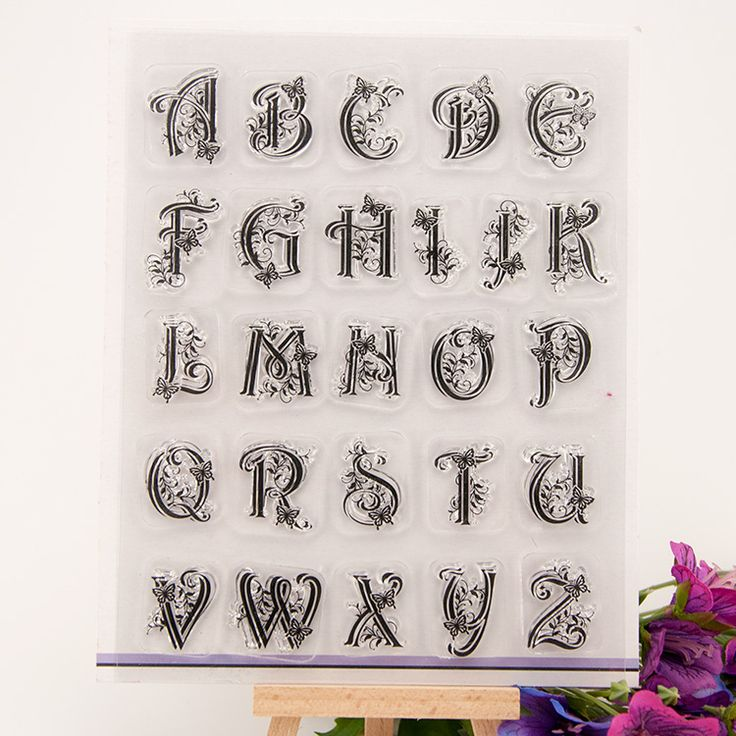 alphabet letters design silicon stamps scrapbooking stamp for kids diy paper card wedding gift christmas gift poto Album RM-032