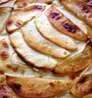 Tarta de manzana ligera al estilo entulínea