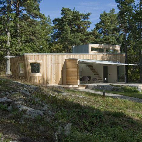 Wooden house, Sweden by Schlyter/Gezelius Arkitektkontor.