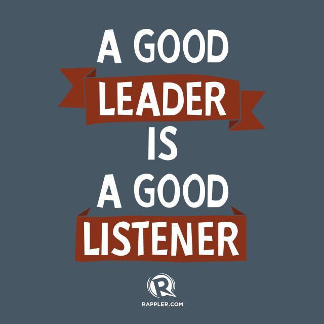 best leadership images leadership development a good leader is a good listener