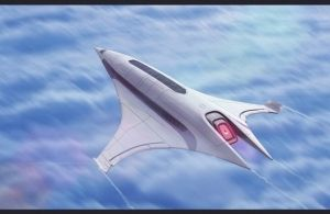future, Futuristic Aircraft, Scifi Luxury Liner, AdamKop, future airplane, futuristic vehicle, concept art, digital art by FuturisticNews.com