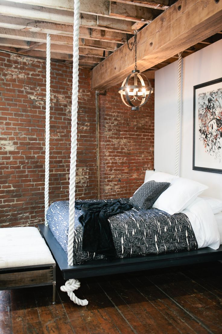 Check out Nina's signature project. This floating bed with