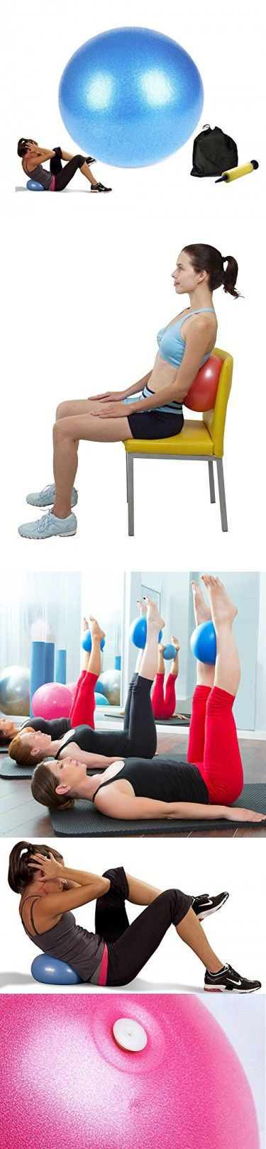 Small Exercise Ball, Mini Fitness Ball for Barre Pilates Balance Gym Yoga Balance Stability Bender Physical Therapy