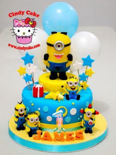 Детский торт Миньоны-1