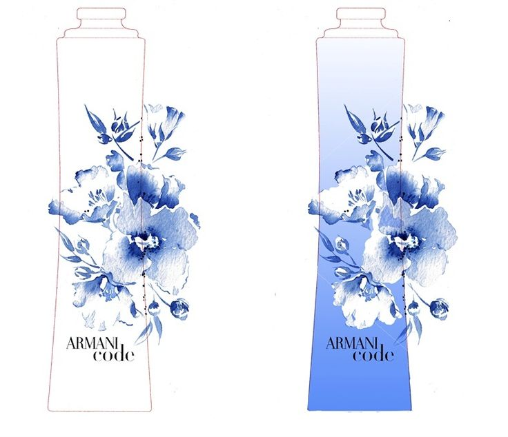 Armani Fragrances illustration by Katharine Asher