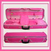 Beautiful Pink Violin Oblong Ractangular Case 4 4 Size | eBay