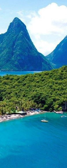 Anse Chastanet resort on Saint Lucia in the eastern Caribbean. - Stayed in st lucia at the sandals grande with my man, it is the most beautiful place!