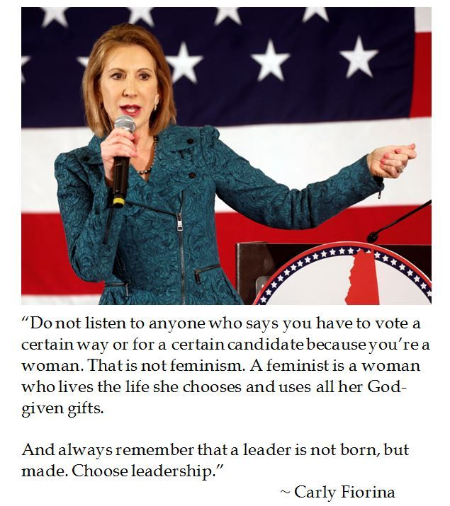Never thought I'd pin a Carly Fiorina quote, but she's right.