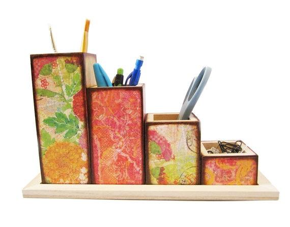 handmade desk organizer