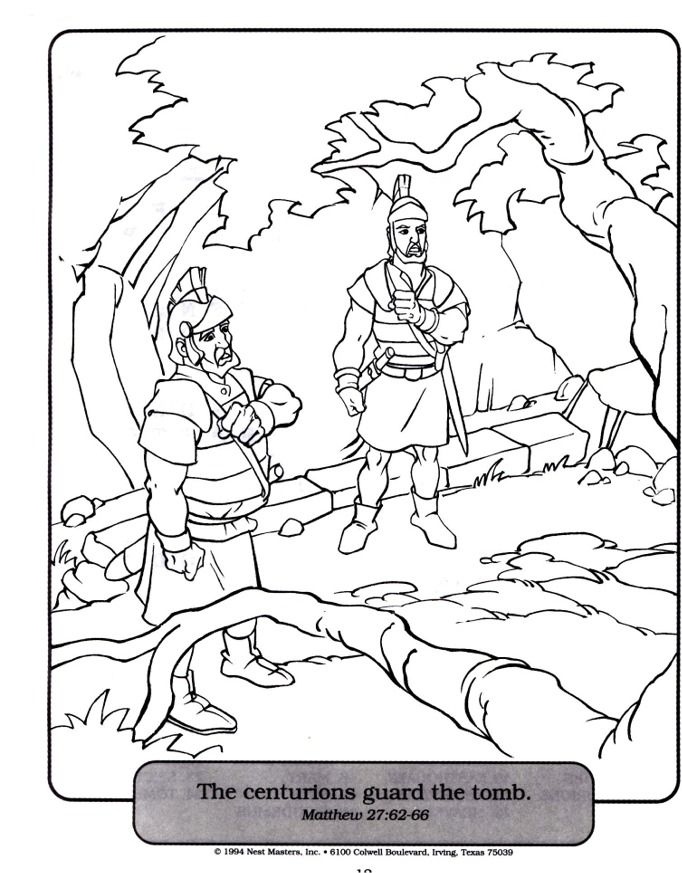 centurion servant coloring pages - photo#10