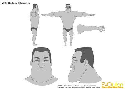 Male Cartoon Character