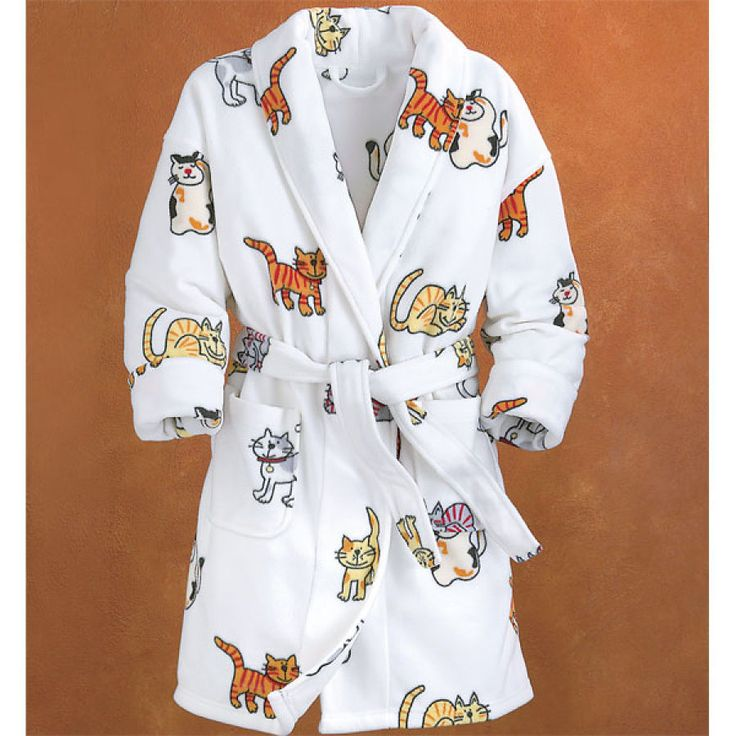 Happy Cat Robe - Gifts, Clothing, Jewelry, Home Decor and Home Furnishings as Featured in Popular Catalogs | Catalog Favorites