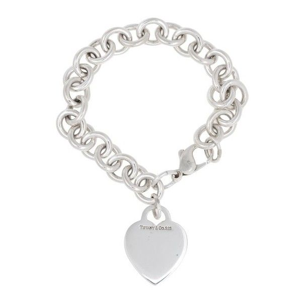 Pre-owned Tiffany & Co. Sterling Silver Heart Charm Bracelet ($185) ❤ liked on Polyvore featuring jewelry, bracelets, tiffany co jewellery, heart charm bracelet, heart jewellery, sterling silver charm bracelet and preowned jewelry