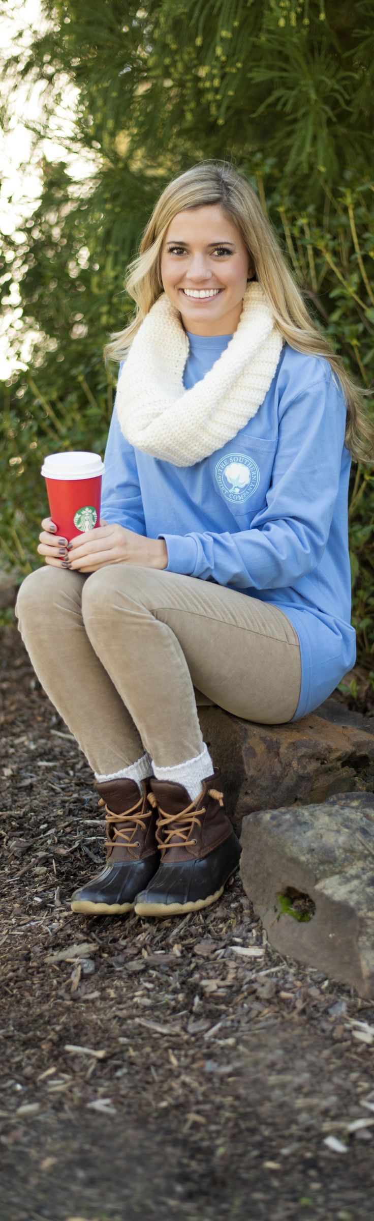 LL Bean Boots, a warm scarf, and a hot cup of coffee... Sounds like a great way to celebrate the holidays!