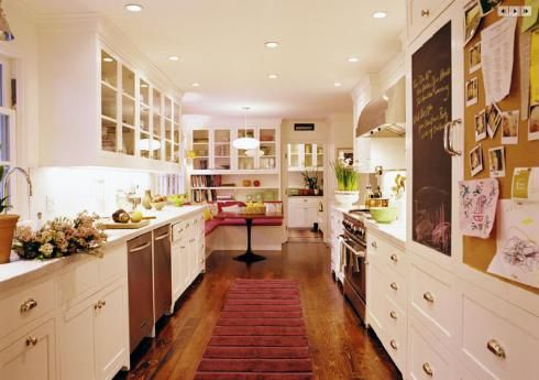 38 best images about kitchen inspiration on pinterest for Galley kitchen with breakfast nook