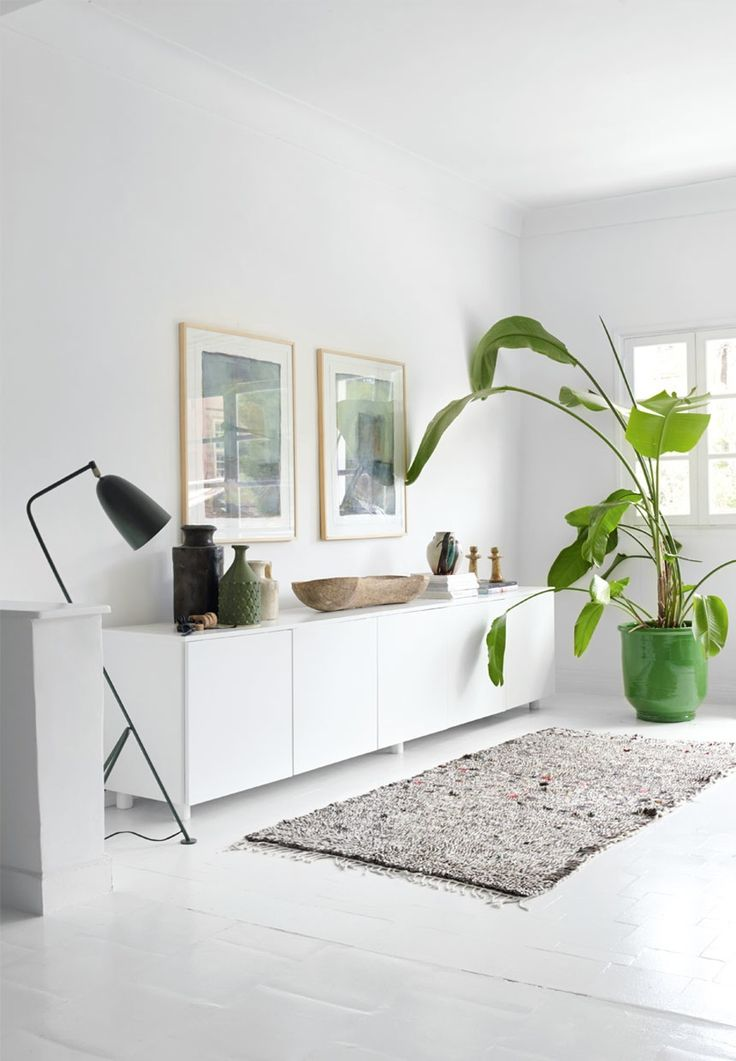 Botanical Interior In The Bright Living Room We Love Grasshopper Floor Lamp From Gubi