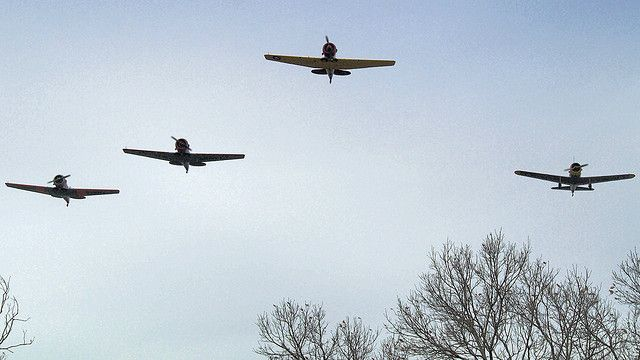 CAF Missing Man Formation Fly-by by MDLPhotoz, via Flickr