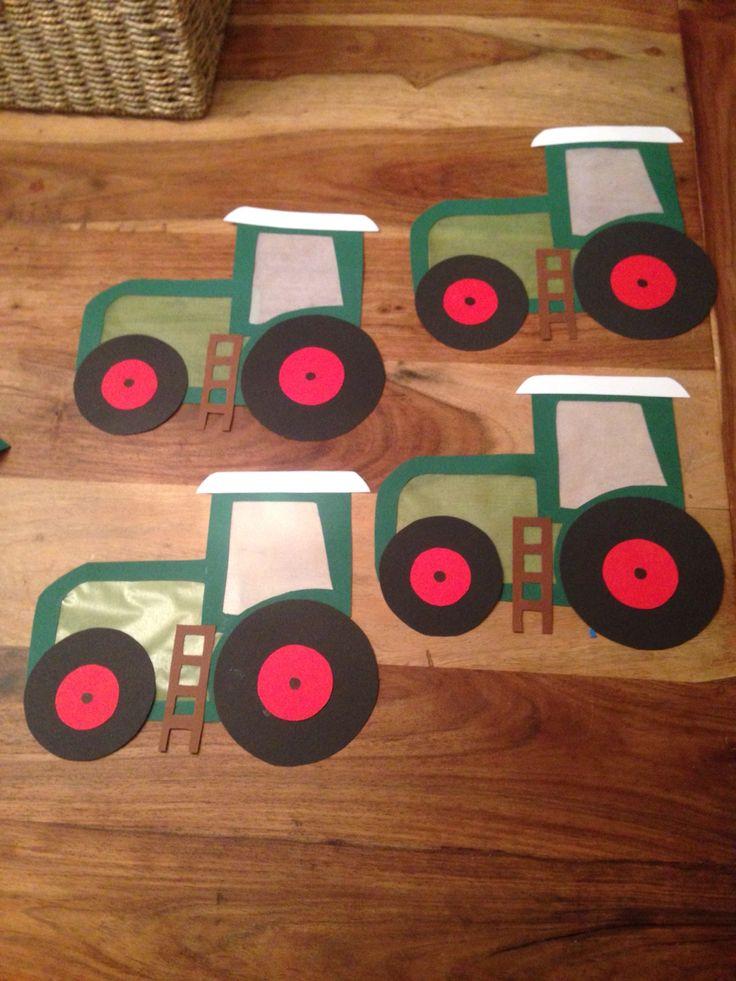 Traktor Laterne Vorbereitung